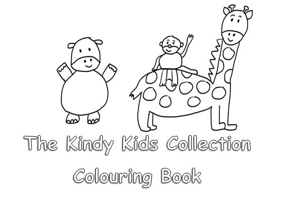 The Kindy Kids Collection Colouring Book BORN2READ